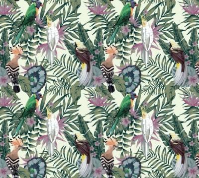 Фотошторы «Райские птицы в саду»