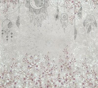 Фотошторы «Восточный сад в розовых тонах»