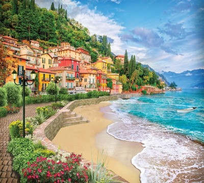 Фотошторы «Прилив на итальянском побережье»