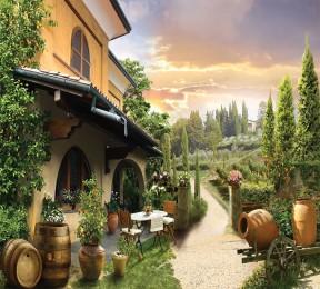 Фотошторы «Домик в Италии»
