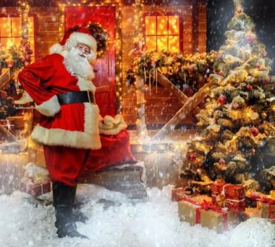 Фотошторы «Домик Санта Клауса»