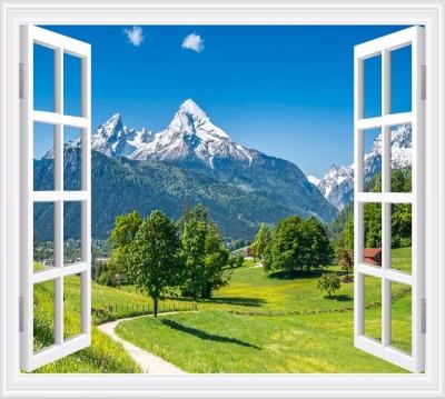 Фотошторы «Окно с видом на Баварские горы»
