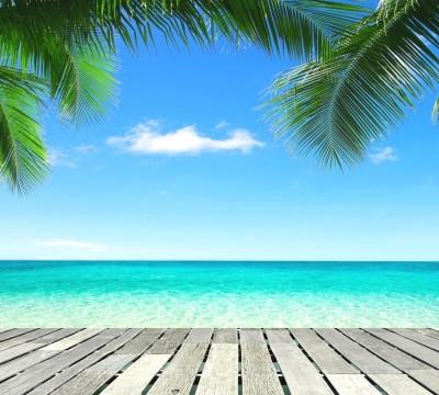 Фотошторы «Терраса у лазурного моря»