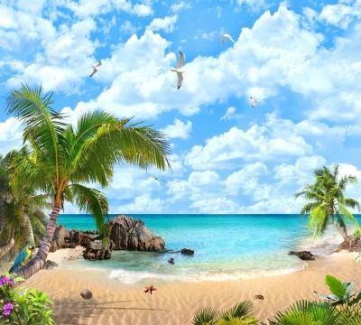 Фотошторы «Лазурный пляж»