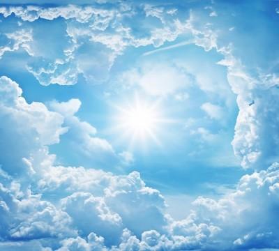 Фотошторы «Солнце в небе»
