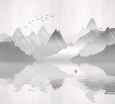 Фотошторы «Туманное озеро»