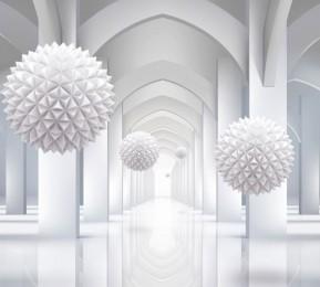 Фотошторы «Объемная инсталляция в арочном тоннеле»