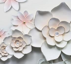 Фотошторы «Керамические цветы»