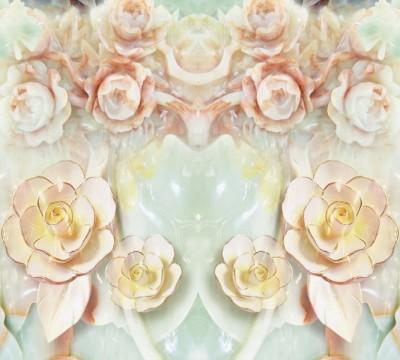 Фотошторы «Цветы под керамику»