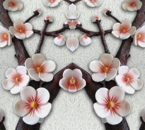 Фотошторы «Ветви сакуры»