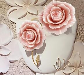 Фотошторы «Объемная композиция с бутонами роз»