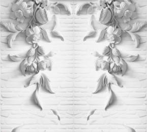 Фотошторы «Рельеф с ниспадающими цветами»