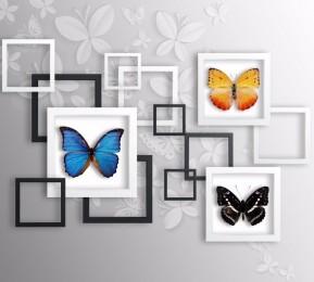 Фотошторы «Коллекция бабочек»