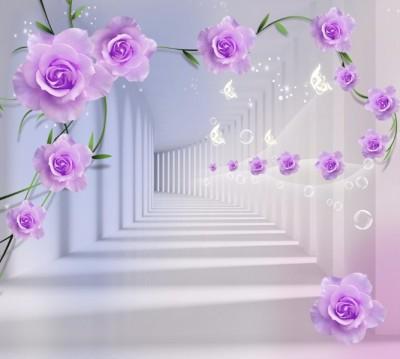 Фотошторы «Тоннель с розами»