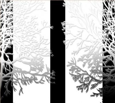 Фотошторы «Силуэты деревьев»