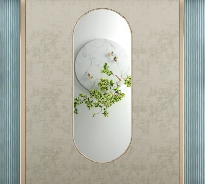 Фотошторы «Цветущая ветвь в зеркальном отражении»