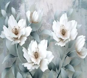 Фотошторы «Благородные белые цветы»