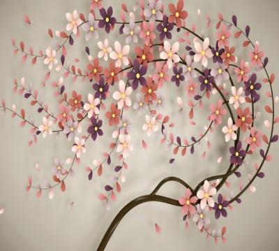 Фотошторы «Персиковое дерево»