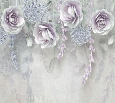 Фотошторы «Ниспадающая цветочная фантазия»