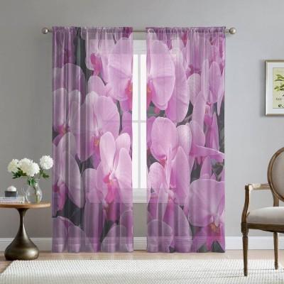Фототюль «Ковер из розовых орхидей»