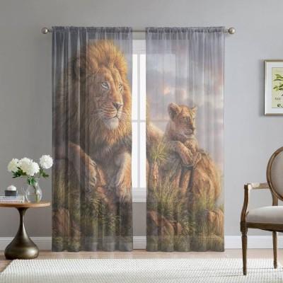 Фототюль «Величественные львы»