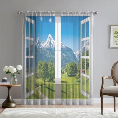 Фототюль «Окно с видом на Баварские горы»