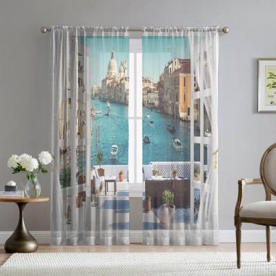 Фототюль «Окно-балкон в Венеции»