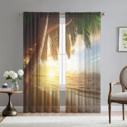 Фототюль «Закат под пальмами»