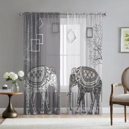 Фототюль «Слоны в стиле модерн»
