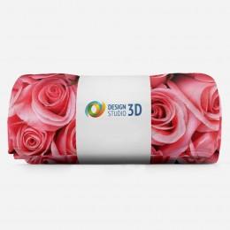 3D плед «Обилие роз»