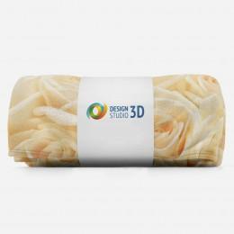 3D плед «Ковер из бежевых роз»