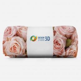 3D плед «Кремовые розы»