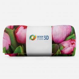3D плед «Букет тюльпанов»