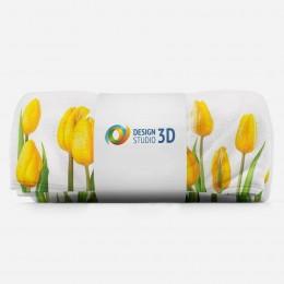 3D плед «Желтые тюльпаны»