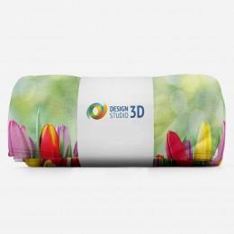 3D плед «Разноцветные тюльпаны»