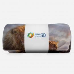 3D плед «Величественные львы»