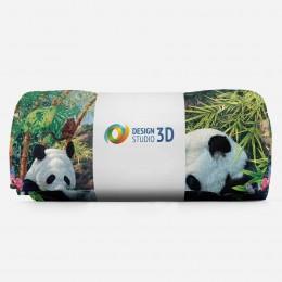 3D плед «Семейство панд»