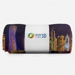 3D плед «Огни Дубая»
