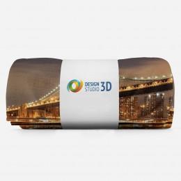 3D плед «Бруклинский мост: отражение в реке Гудзон»