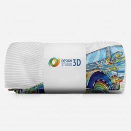 3D плед «Красочный бумер»