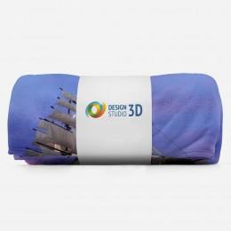 3D плед «Парусник на закате»