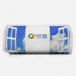 3D плед «Распахнутое в море окно»