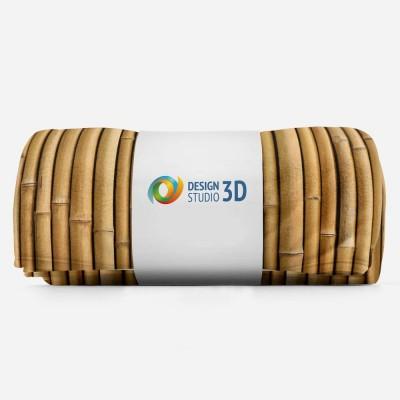 3D плед «Бамбуковая стена» 3D Пледы