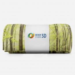 3D плед «Зеленый лес»