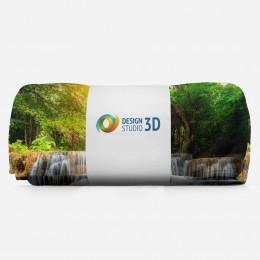3D плед «Водопад с голубой водой»