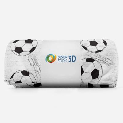 3D плед «Узор из футбольных мячей» 3D Пледы