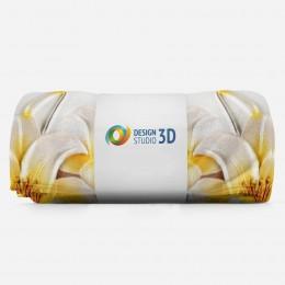 3D плед «Объемные лилии»