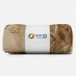 3D плед «Журавли резьба по дереву»