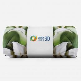 3D плед «Зеленые лилии из керамики»