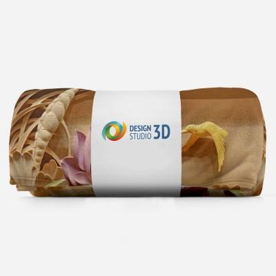 3D плед «Цветы с тиснением» 3D Пледы